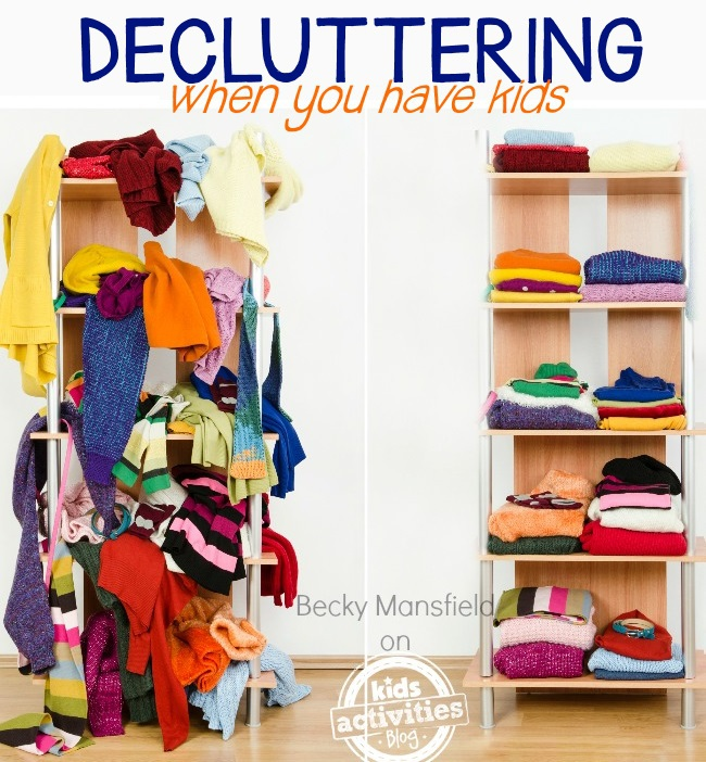 how to declutter your home with kids
