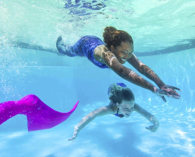 Become a mermaid with these tails