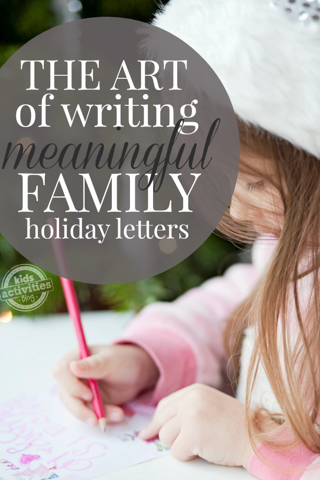 how to write a meaninful family Christmas letter