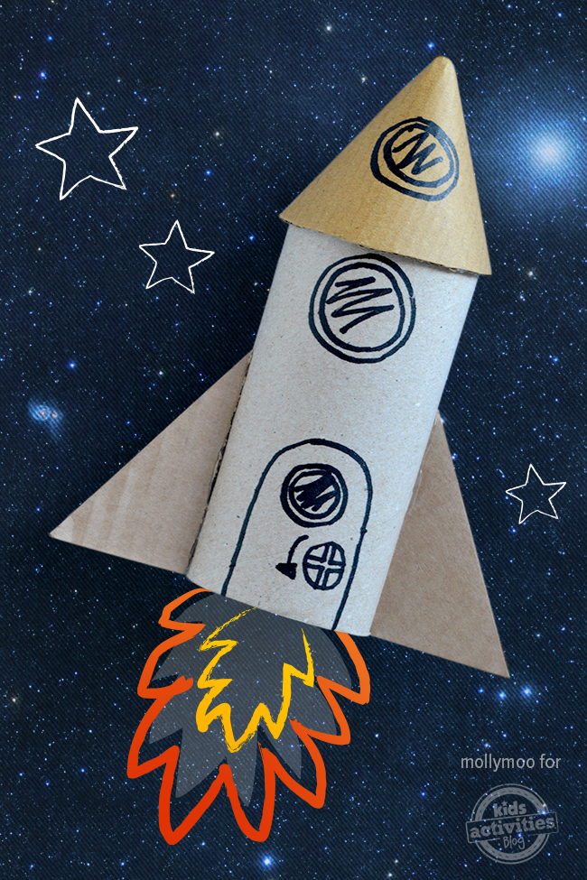 toilet roll craft rocket