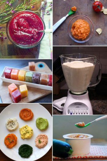 Baby food recipes with frozen baby food, baby food smoothies, mashes, and purees