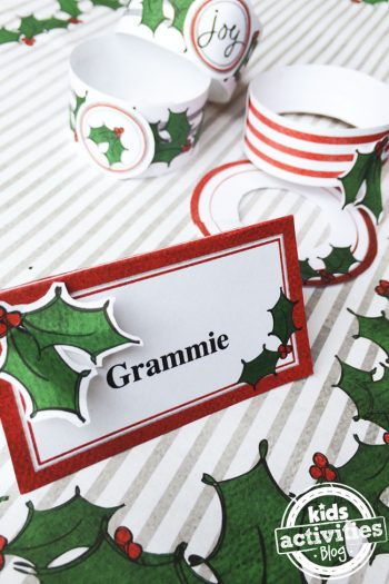 Make your own Christmas Holly Place Setting