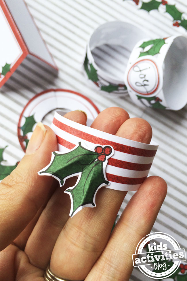Christmas Place Setting napkin ring