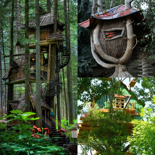 Extreme Tree Houses - three level and wicker