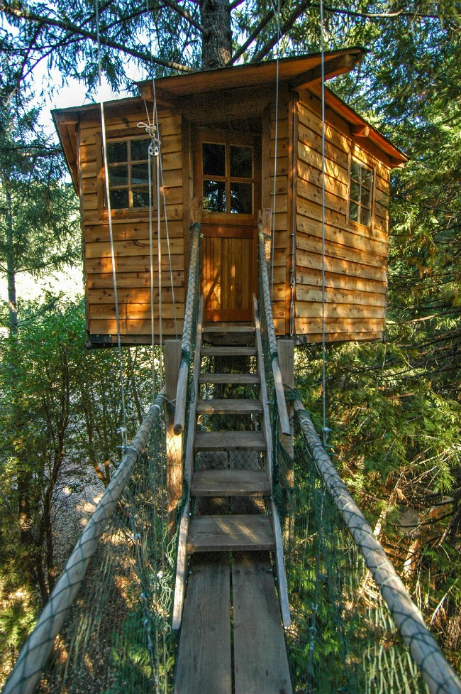 Rope Bridge Tree House - Kids Activities Blog