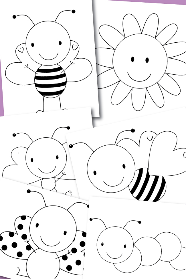 Free Coloring Pages – Spring Buggies