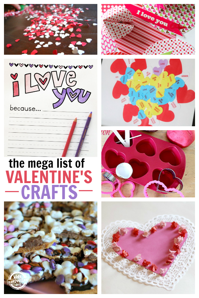Valentines Day activities and crafts for kids - big list!