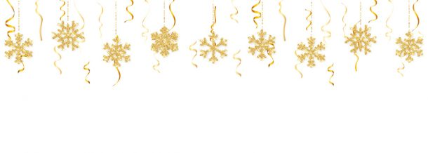 snowflakes hanging from the ceiling