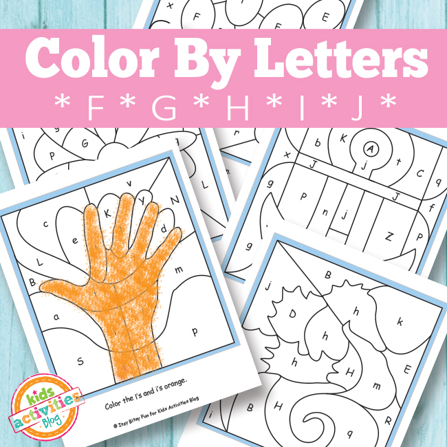 Color by Letters Free Printable