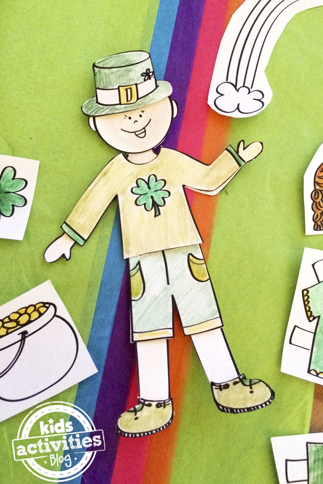 St. Patrick's Day paper doll printable designed by Jen Goode