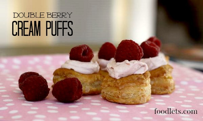 double berry cream puffs foodlets