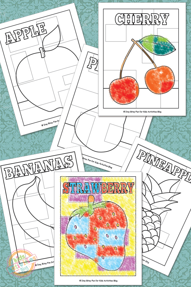 Fruit Abstract Coloring Pages