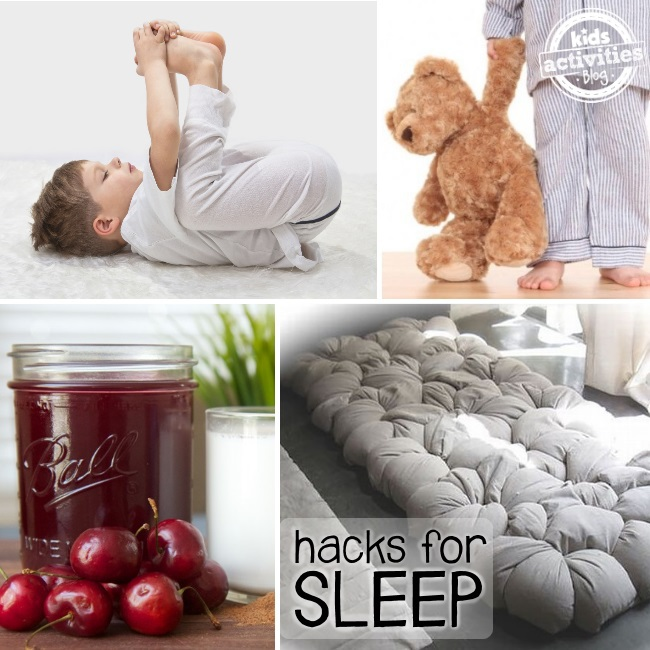 hacks and tricks for better sleep
