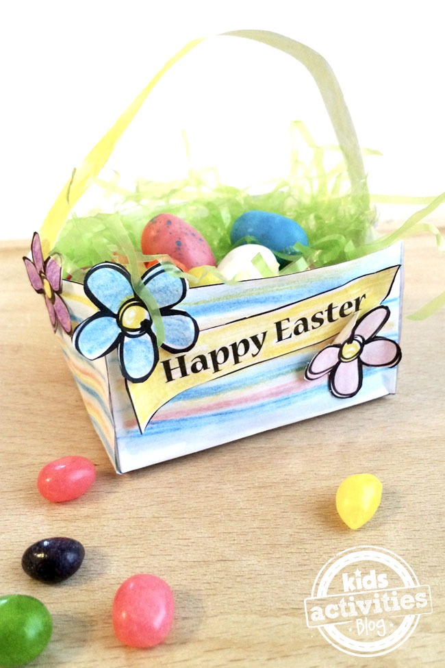 Make your own mini Easter Basket - printable craft designed by Jen Goode
