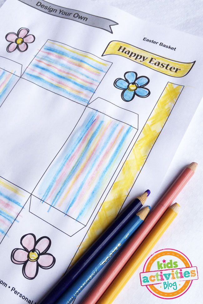 Color the Easter Basket template