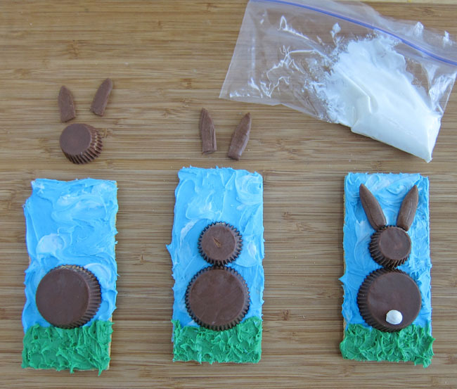 How to make Reese's Cup Easter Bunnies
