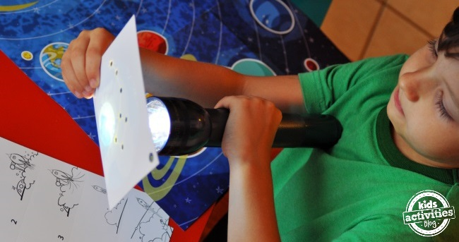 explore constellations with a flashlight