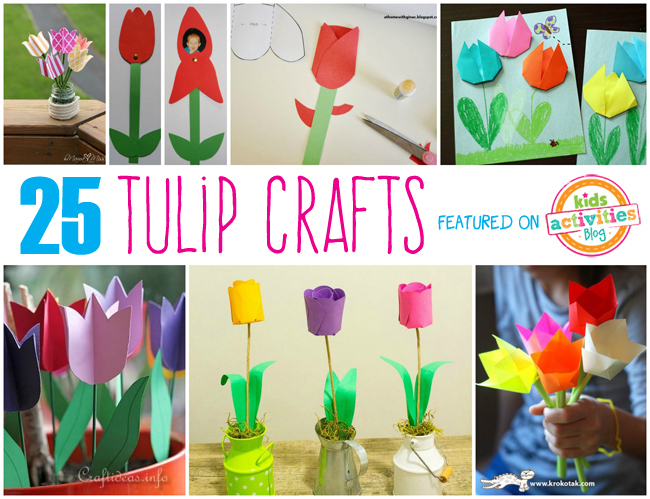 25 Tulip Crafts for Kids