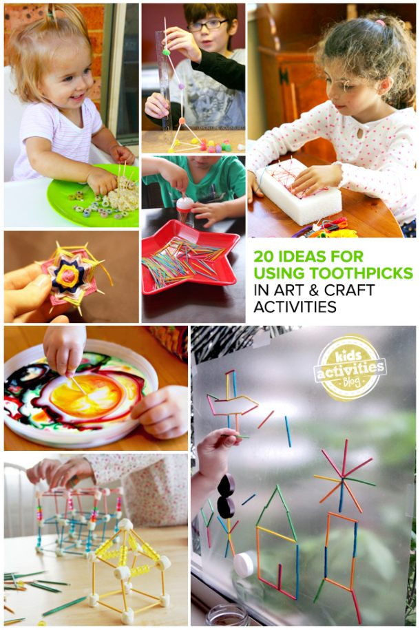 using toothpicks in art and crafts