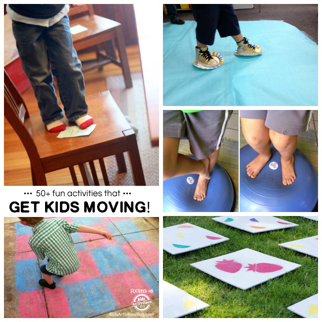 50+ Activities to Get Kids Moving