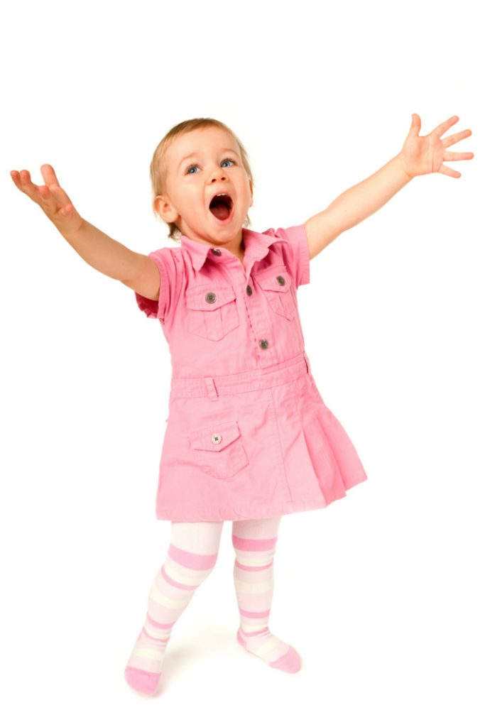 Baby girl sings elvis trilolgy video - Kids Activities Blog- girl singing on white background
