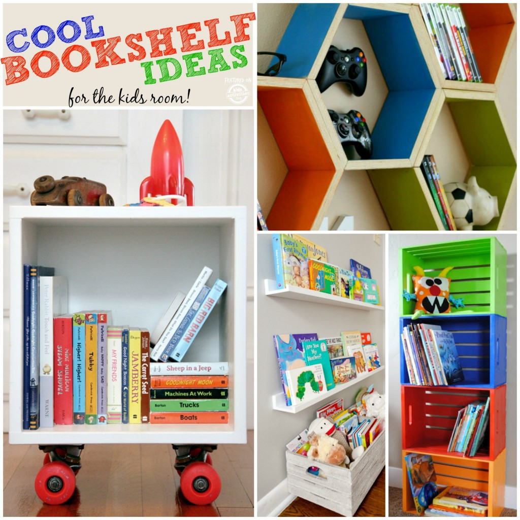 Cool Bookshelf Ideas for the Kids Room