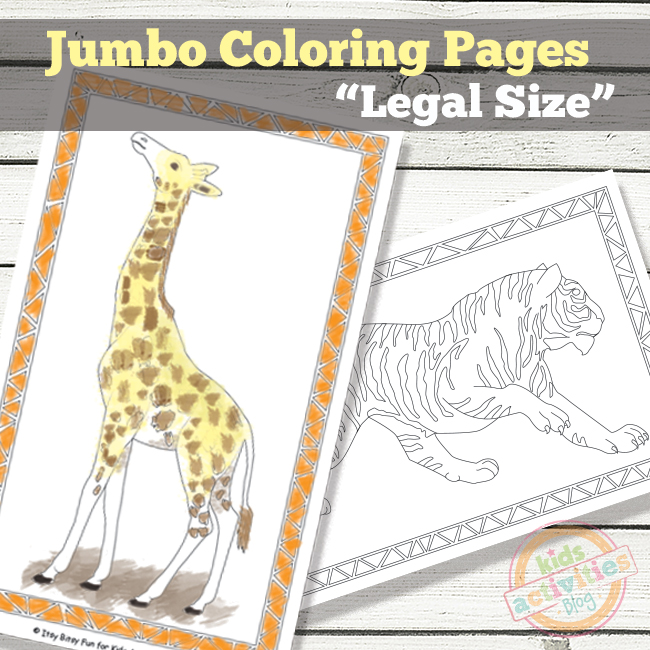 Jumbo Coloring Pages Free Kids Printable