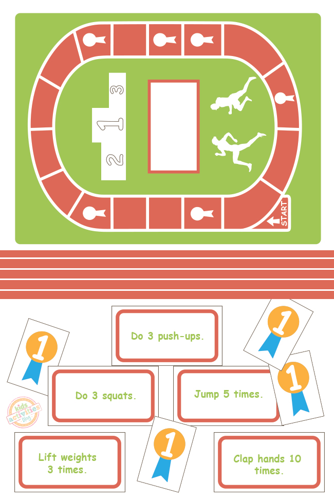 Let's Be Fit Board Game {Free Kids Printable}