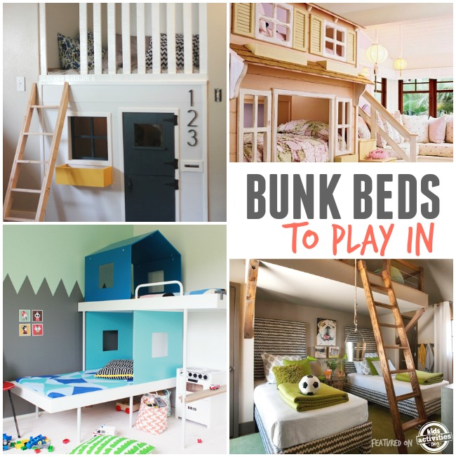 bunk beds for kids to play in