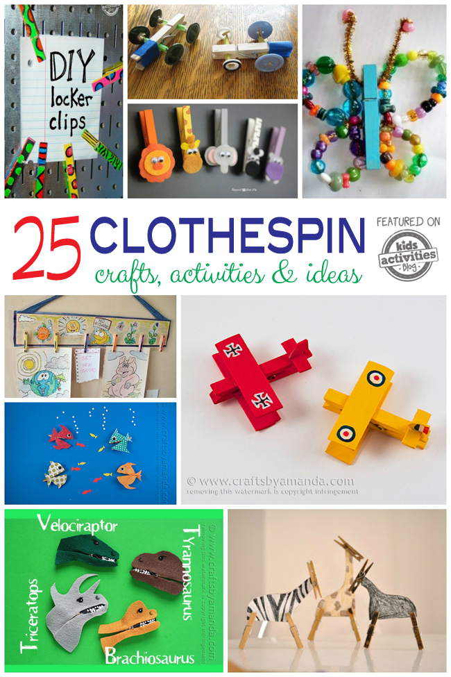 25 Wooden Clothespin Crafts Activities