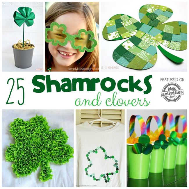 Shamrock Crafts, Activities, and Treats (Clovers Too!)