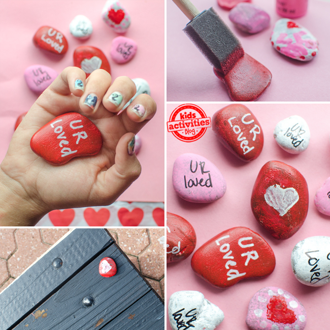 Valentine's Day Heart Stone Crafts