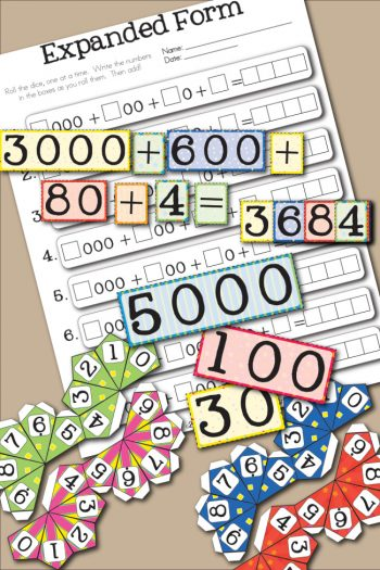 Free Printable Expanded Form Place Value Math Worksheet for Kids