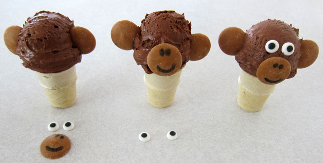 How to make an ice cream cone monkey