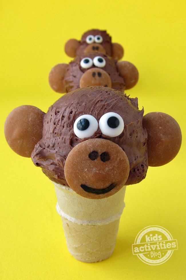 Mini Ice Cream Cone Monkeys