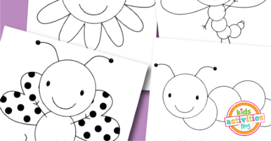 Free Coloring Pages - Spring Buggies