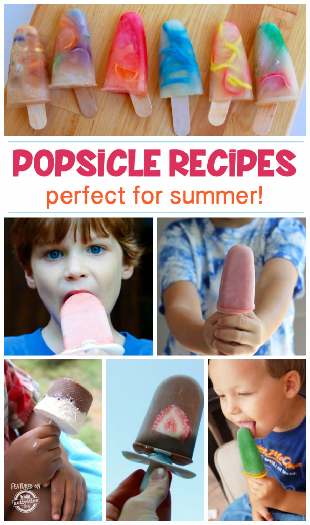 Popsicle Recipes for kids - 50 easy popsicle recipes that work in traditional popsicle molds or quick pop makers like zoku