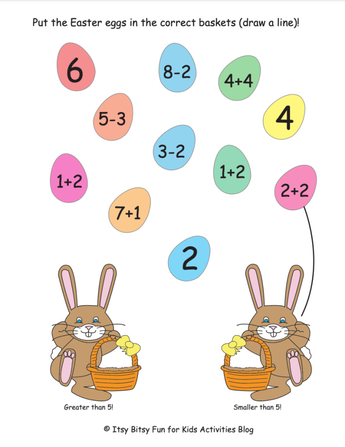 Free Printable Easter Addition & Subtraction, Multiplication & Division Math  Worksheets