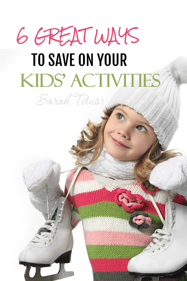 6 Great Ways to Save on Your Kids' Activities