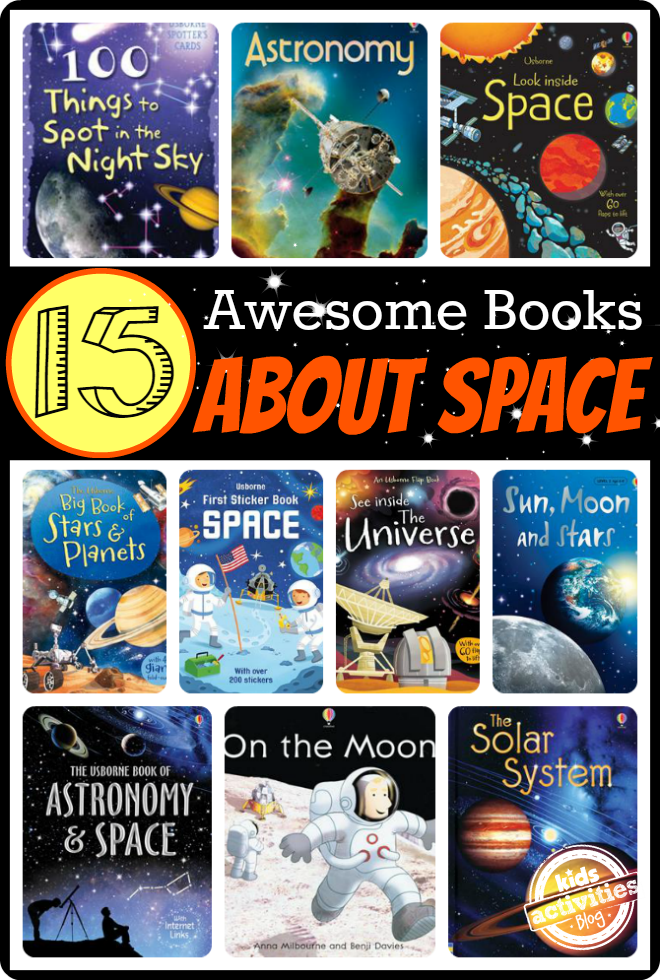 15 Awesome Books for Kids About Space - Interactive, internet linked, and even a night's sky scavenger hunt!