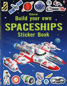build your own space ships sticker book for kids