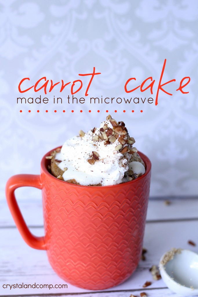 carrot cake made in the microwave