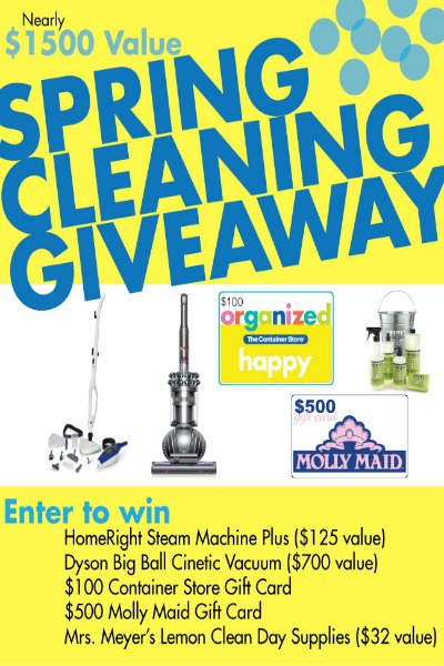 Spring Cleaning Giveaway worth $1500!