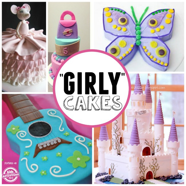 girly birhtday cakes