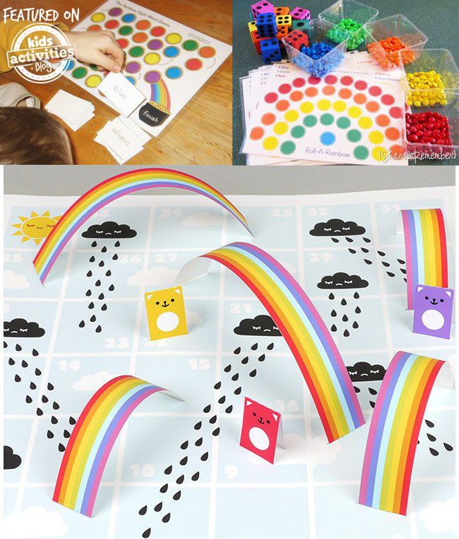 printable rainbow games