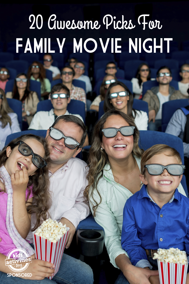 20 great animated and non-animated movies to watch with kids for family movie night - 20 awesome picks for family movie night