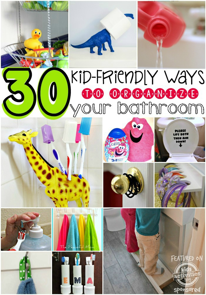 30 Kid-friendly Ways to Organize Your Bathroom - Mr. Bubble