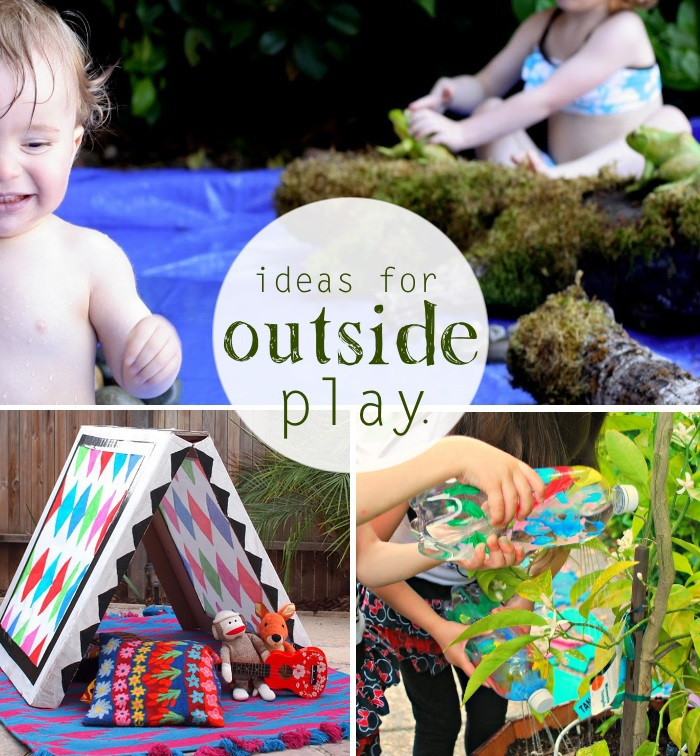 PLAY IDEAS FOR BORED KIDS OUTSIDE text