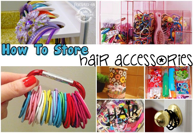 how to store hair accessories