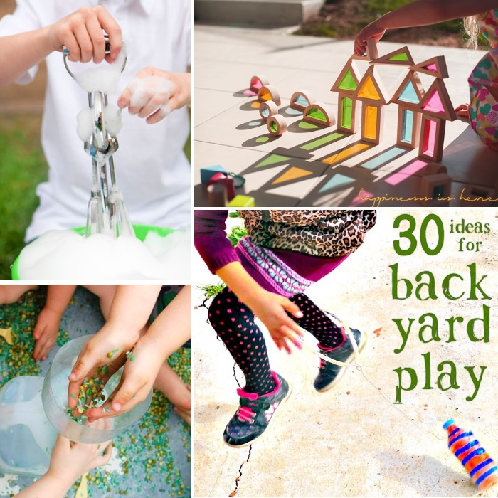 ideas for kids to do in the back yard text